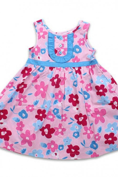 3T Girls Cotton Dress with Flowers